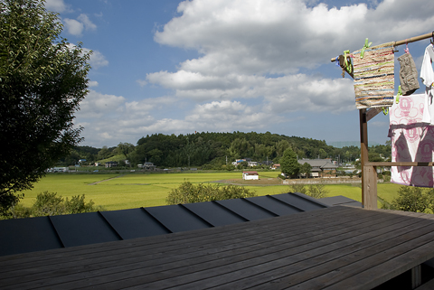 屋根上デッキからの景色