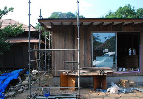 印旛の家 外壁杉板仕上
