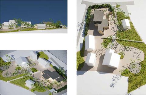印旛の家全体模型