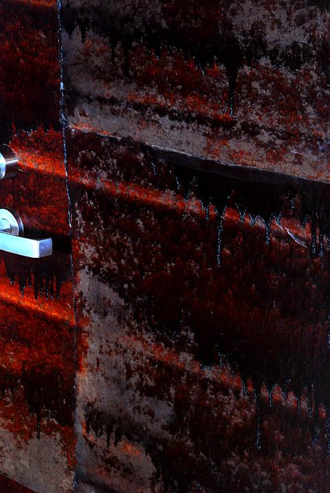 アトリエ建具に漆和紙張り