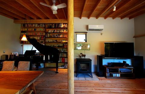 家族室とピアノ