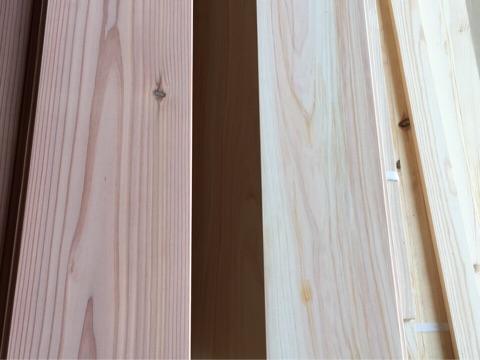 杉と桧の床材