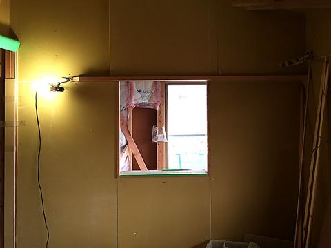 2階寝室吹抜け部分開口