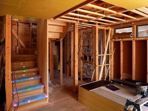 天井と階段