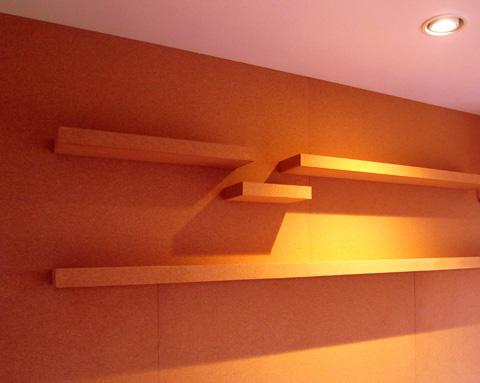 コルク壁とコルク棚2
