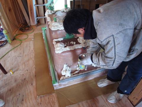 浴槽断熱工事1