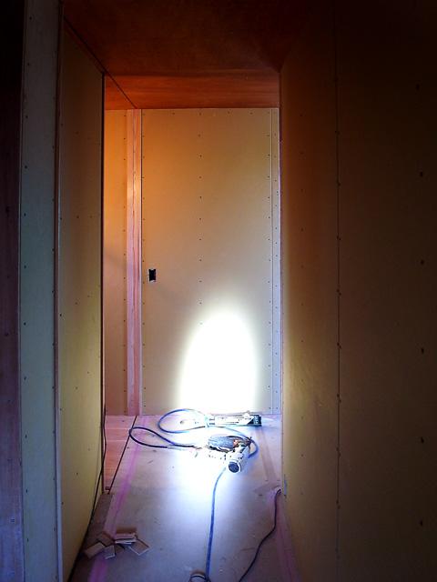 2階廊下下地の状態