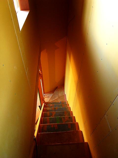 階段の仕上前 見下ろし