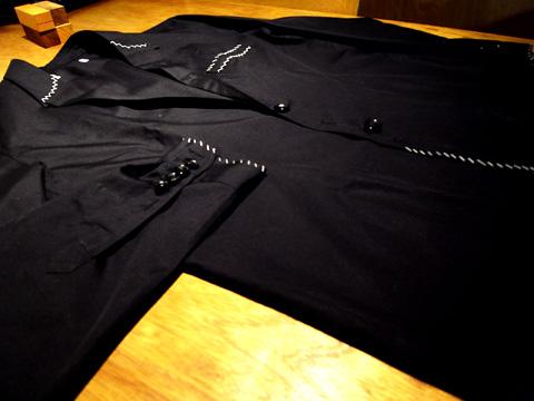 シャツでつくられたジャケット全景
