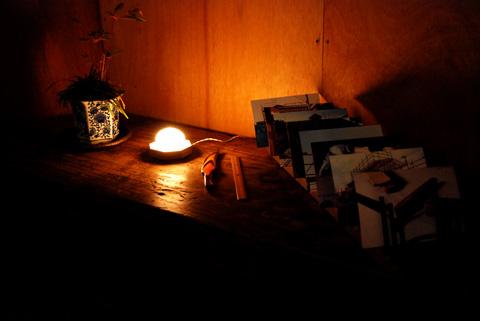 小さな照明のディスプレイ