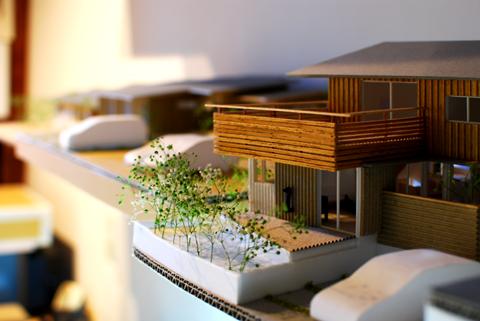 四街道の家 模型南東外観