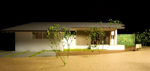 白子の家プレゼン案南側外観