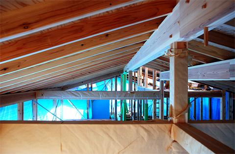 化粧垂木と軸組み