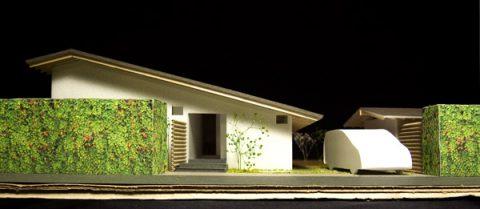 白子の家プレゼン案西側立面